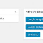 WordPress-Dashboard: Eigene Widgets hinzufügen / vorhandene Widgets löschen
